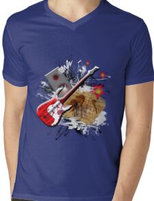 Rock Guitar Mens V-Neck T-Shirt