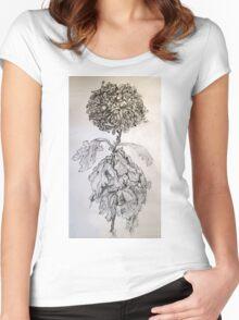 Chrysanthemum after Piet Mondrian Women's Fitted Scoop T-Shirt