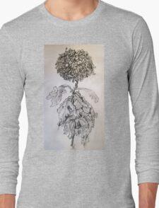 Chrysanthemum after Piet Mondrian Long Sleeve T-Shirt