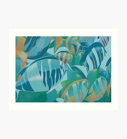 Fish in Ocean View Art Print