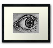 Realistic eye Framed Print