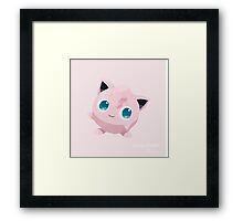 Jigglypuff Low Poly Framed Print