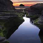 Tebarwith Strand at Sunset by Matt Stansfield