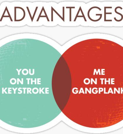 Advantages to both - Disco Ball/Lyric Variant Sticker