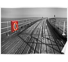 Along Whitby pier Poster