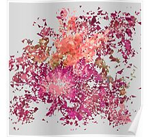 Meshed Up Summer Blossoms Poster