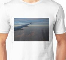 Flying Over the Mojave Desert at Dawn Unisex T-Shirt