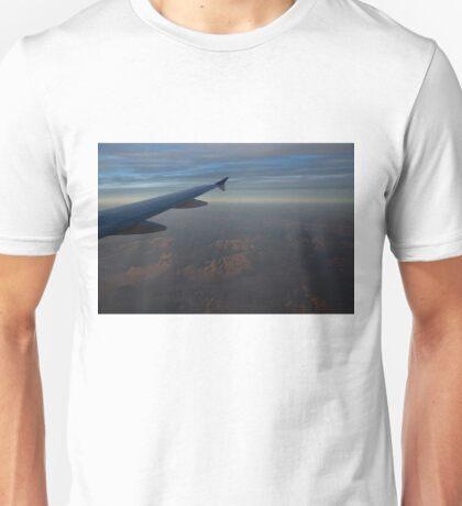 Flying Over the Mojave Desert at Dawn Unisex T-Shirt