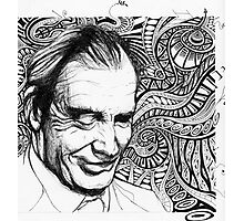 The Intricacies of Ink - Aldous Huxley Photographic Print
