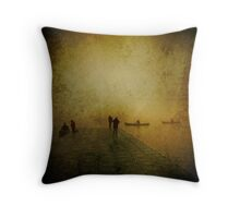 A Foggy Afternoon Throw Pillow