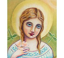 Angel with a Dogwood Flower Photographic Print