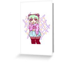 Pastel Goth Girl Greeting Card