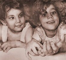 Two Little Sisters by Celeste Schor