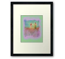 couple on hill Framed Print