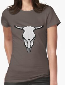 Cow's Skull Womens Fitted T-Shirt