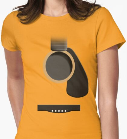 Guitar Form Womens Fitted T-Shirt