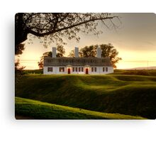 Sunset at Fort Anne Canvas Print