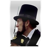 Profile Of Abraham Lincoln Poster
