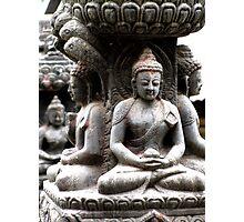 Buddhas at Swayambhunath Photographic Print