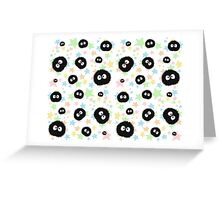 Soot Sprite with stars Greeting Card