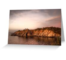 Smuggler's Cove Sunset Greeting Card