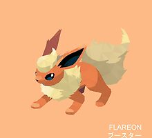 Flareon Low Poly by meowzilla
