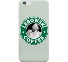 Lebowski Coffee. iPhone Case/Skin