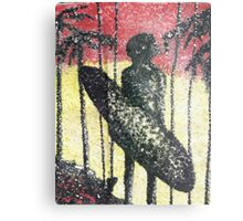 Aborigine on the Beach Metal Print