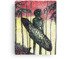 Aborigine on the Beach Canvas Print