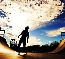 We Skate Under Blue Skies. by Andrea Morris