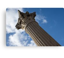 The Grandeur of Pompeii - a Corinthian Capital Column in the Sky Canvas Print