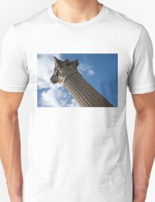 The Grandeur of Pompeii - a Corinthian Capital Column in the Sky Unisex T-Shirt