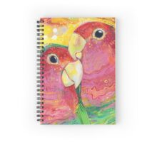 Peach-faced lovebird Spiral Notebook