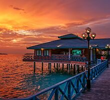 Fireworks of Colors. Maldives  by JennyRainbow