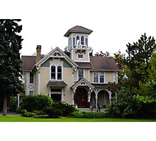 Victorian Era Home wtih lots of Gingerbread Photographic Print