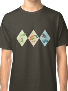 Pokemon Low Poly - 2nd Gen Starters Classic T-Shirt