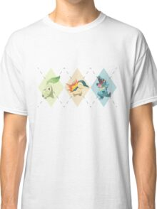 Pokemon Low Poly - 2nd Gen Starters Classic T-Shirt