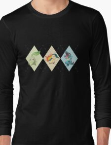 Pokemon Low Poly - 2nd Gen Starters Long Sleeve T-Shirt