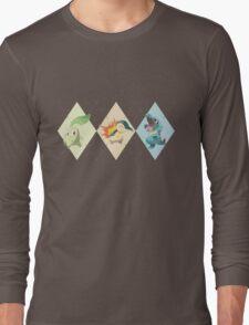 Pokemon Low Poly - 2nd Gen Starters Long Sleeve T-Shirt