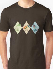 Pokemon Low Poly - 2nd Gen Starters Unisex T-Shirt