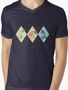 Pokemon Low Poly - 2nd Gen Starters Mens V-Neck T-Shirt