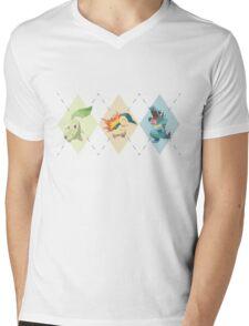 Pokemon Low Poly - 2nd Gen Starters Mens V-Neck T-Shirt