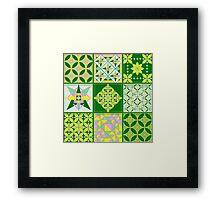 Sweet lovers love the Spring - Quasi-Quilt Framed Print