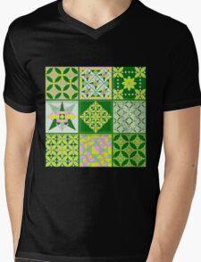 Sweet lovers love the Spring - Quasi-Quilt Mens V-Neck T-Shirt