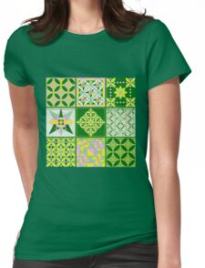 Sweet lovers love the Spring - Quasi-Quilt Womens Fitted T-Shirt