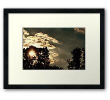 Cumulus Mediocris Framed Print