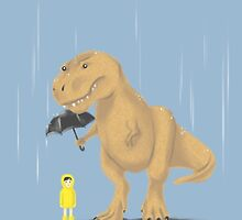 Raindrops Keep Fallin' on My T-Rex by meowzilla
