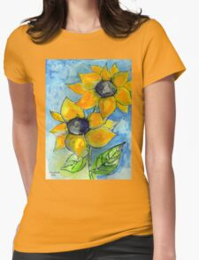 Summer is a yellow flower Womens Fitted T-Shirt