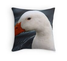 Portrait of a Duck Throw Pillow