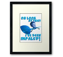 An Impaled Leaf on the Wind Framed Print